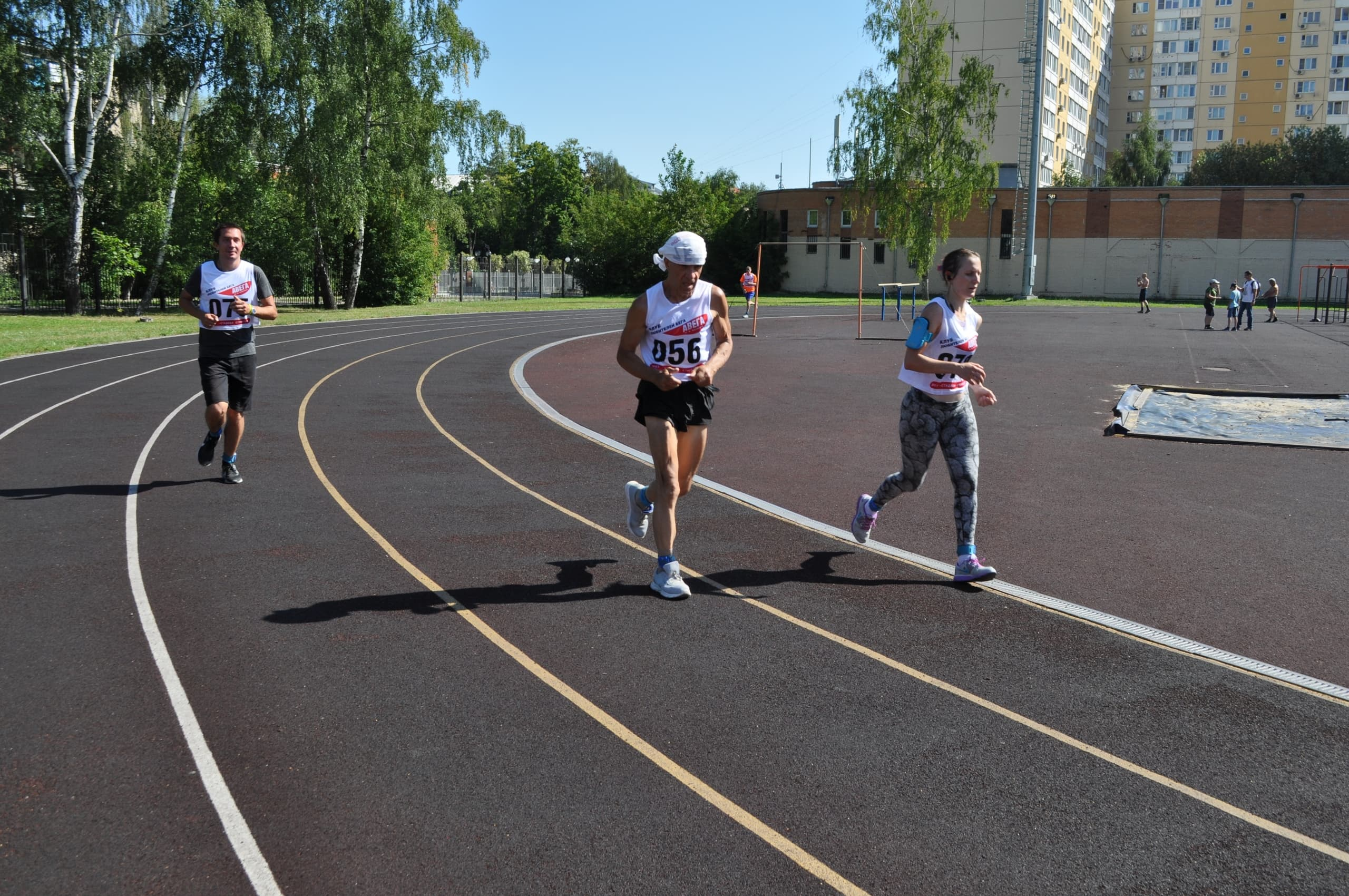 Time running, devoted to day of the athlete
